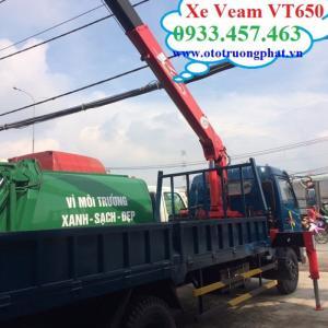 Bán xe tải cẩu Veam 2 chân VT650 nhập khẩu chính hãng