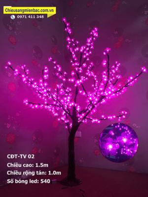 Cây hoa đèn led mini