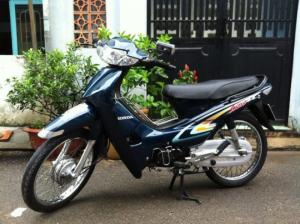 Honda Wave Alpha đời đầu màu xanh,xe zin chưa...
