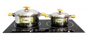 Phù hợp với hầu hết các loại dụng cụ nấu như: gốm, sứ, inox, nhôm, thủy tinh...