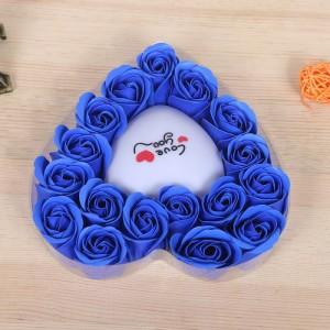 Hoa Hồng Sáp Trái Tim Phát Sáng màu xanh