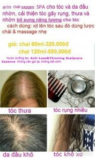 Mỹ phẩm nước xịt dưỡng tóc dành cho tóc rụng nhiều.