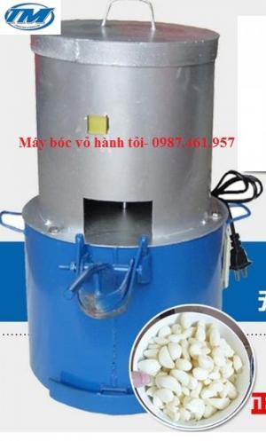 Máy bóc vỏ hành tỏi công suất 20kg/h