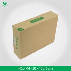 M4 - Size 20x15x5 cm- Hộp Carton đóng gói gửi hàng thu hộ COD