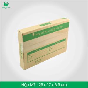 M7 - Size 25x17x3.5 cm- Hộp Carton đóng gói gửi hàng thu hộ COD