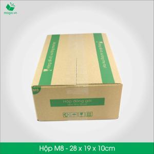 M8 - Size 28x19x10 cm- Hộp Carton đóng gói gửi hàng thu hộ COD