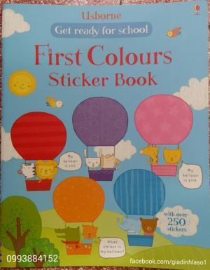 Sách sticker, tô màu học tiếng anh Usborne