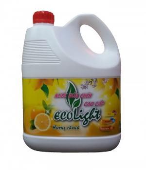 Nước rửa chén Ecolight hương chanh 3.6L