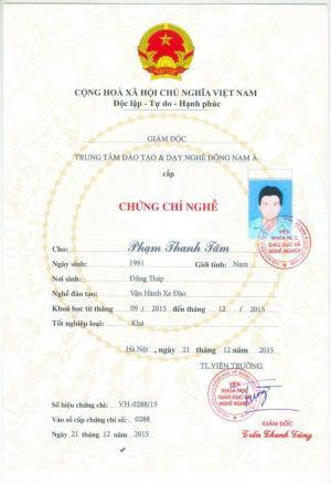 Khóa Học Cấp Chứng Chỉ Máy Đào Tại Phú Yên Và Toàn Quốc