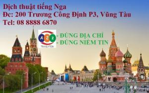 Dịch thuật tiếng Nga tại Vũng Tàu