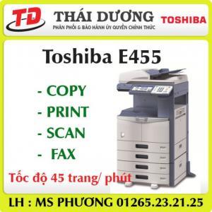 Máy photo Toshiba E455 Copy-In-Scan mới 90%,bảo hành tận nơi
