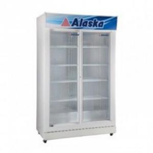 Tủ mát 2 cửa mở ra Alaska SL-12, dàn lạnh cưỡng bức