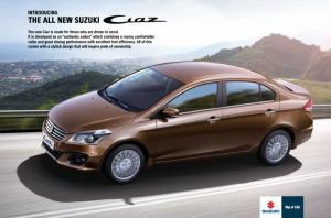 Suzuki Ciaz 2016 Lượt xem: 1000 Mã sản phẩm: Giá: 580.000.000      Những chủ nhân của Suzuki Ciaz 2016 Phụ kiện  Suzuki Ciaz 2016 – xe sedan của năm. Hãng xe Nhật tại Thái Lan trình làng mẫu sedan mới, Suzuki Ciaz 2016, sử dụng động cơ 1,4 lít công suất 96 mã lực. Theo Suzuki, Suzuki Ciaz 2016 phát triển dành riêng cho thị trường Đông Nam Á và ở Mỹ La tinh, sẽ thay thế mẫu SX4. Mẫu sedan mới của Suzuki có thiết kế đèn pha lớn, lưới tản nhiệt mạ crôm, hốc hút gió dưới lớn tích hợp đèn sương mù. Hai bên thân xe nổi bật với đường gờ kết hợp vành hợp kim 16 inch thiết kế thể thao.   Ciaz 2016 có chiều dài 4.490 mm, rộng 1.730 mm, cao 1.475 mm và dài cơ sở 2.650 mm. So với Honda City, Suzuki Ciaz 2016 dài và rộng hơn, trong khi chiều cao lại thất hơn và trục cơ sở dài hơn.  Suzuki Ciaz 2016 sử dụng động cơ xăng 16 van, 4 xi-lanh mang mã K12B, loại 1,25 lít VVT kết hợp công nghệ van biến thiên thời gian cho cả van nạp và van xả. Nhờ đó công suất đạt 91 mã lực tại vòng tua máy 6.000 vòng/phút, mô-men xoắn cực đại 118 Nm ở vòng tua máy 4.800 vòng/phút. Hộp số tùy chọn số sàn 5 cấp hoặc tự động 4 cấp CVT.  Trang bị tiêu chuẩn trên Ciaz gồm đèn pha projector, chìa khóa thông minh, khởi động bằng nút bấm, vô-lăng tích hợp núm điều khiển âm thanh, kết nối Bluetooth, cổng USB/AUX, điều hòa tự động. Trang bị an toàn với túi khí đôi, phanh ABS, phân bổ lực phanh điện tử EBD.  Theo dự kiến Ciaz 2016 sẽ có mặt tại thị trường Việt Nam vào tháng 6/2016 mức giá cạnh tranh so với các xe cùng phân khúc