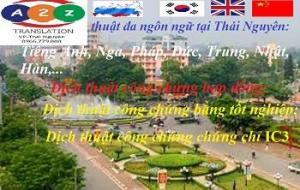 Dịch thuật công chứng tín chỉ IC3 tại Thái Nguyên