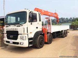 Bán xe tải Hyundai HD320 gắn cẩu Kanglim KS2605, tải trọng 19 tấn, sức nâng cao 10 tấn