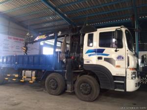 Bán xe tải Hyundai HD320 19 tấn gắn cẩu Unic 8 tấn, cần nâng thủy lực sức nâng cao