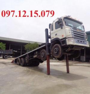 xe tải 5 chân nâng đầu jac có chasis đập 1 lần trên máy dập 6000 T duy nhất tại châu á.