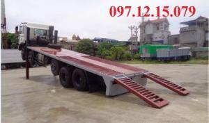 xe tải 5 chân nâng đầu có động cơ 340 HP thích hợp chở các loại máy công trình nặng,đi trên những đoạn đường khó đi