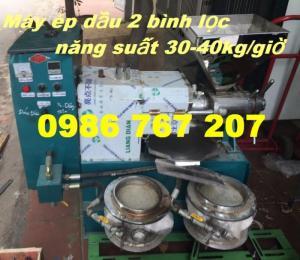 Máy ép dầu thực vật 6YL-60 (2 bình lọc dầu) năng suất 30-40kg/giờ