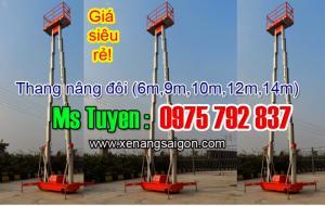 Bán Thang nâng đôi 12m (GTWY12-200S), thang nâng zich zac 12m, giá siêu rẻ