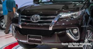 Nhận Đặt Hàng Mua Toyota Fortuner 2017 Mẫu Mới Nhập Khẩu Màu Nâu