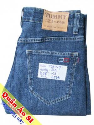 Quần jean Tommy màu xanh đồ si Shop Quần Áo Si GV
