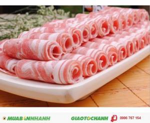 Từng lát thịt mỏng chuyên đồ nướng lẩu đẹp mắt.