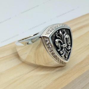 Nhẫn bạc nam cao cấp. thiết kế 3d