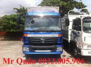 Xe tải thùng kín thaco Auman C160 giao ngay chạy tết