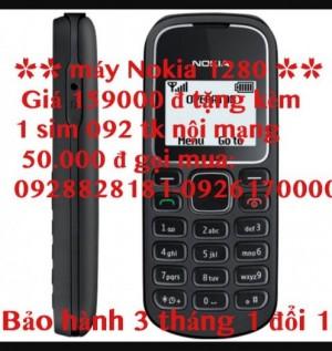 Mua điện thoại Nokia 1280 tặng sim 092 giá chỉ 159000 đ