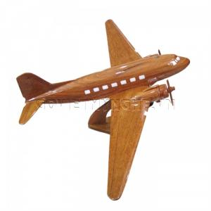 Mô hình Máy Bay Gỗ DOUGLAS DC-3 (Size Lớn)