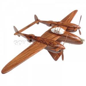 Mô hình máy bay gỗ P-38 Lightning