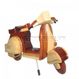 Mô hình xe gỗ VESPA màu (loại 2)-SKU-MOVEPAT
