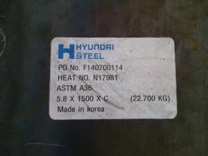 Tấm thép AH32 , AH 36 , A36   8 x 2000 x 12000 mm