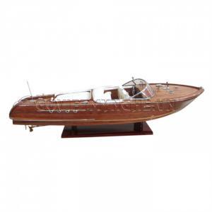 Tàu Mô Hình Riva Aquarama Gỗ/White Sofa 55cm-SKU-SPRAWW50