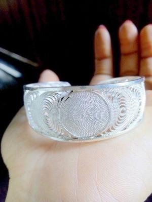 Lắc tay bạc xinh nữ giá rẻ ship toàn quốc