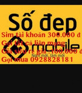 Sim tai khoản khủng 300.000 đ gọi liên mang gia 100.000 đ