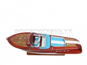 Tàu Mô Hình Riva Aquarama Sơn/White-Blue Sofa 55cm-SKU-SPRWEC55