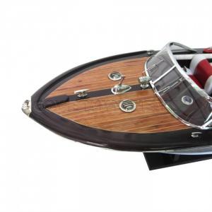 Mô Hình Tàu Cano Riva Aquarama - Nệm Trắng/Đỏ 55cm(Sơn Nho), Dài 55 x Rộng 17 x Cao 14(cm), Giá 1.865.000đ