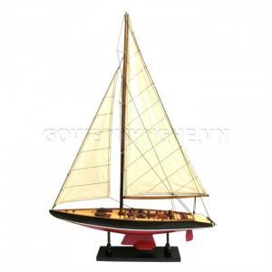 Mô Hình Du Thuyền Gỗ Australia II 50cm Màu Đỏ/Đen