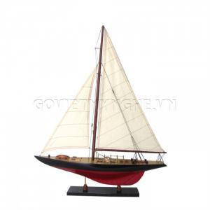 Mô Hình Du Thuyền Gỗ Columbia 50cm Màu Đỏ/Đen (Loại 1)-SKU-DTCL50DD