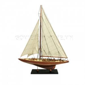 Mô Hình Du Thuyền Gỗ Endeavour 50cm Màu Gỗ Tự Nhiên-SKU-DTEN50WG