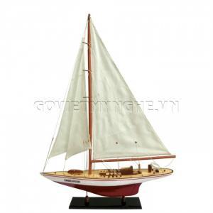 Mô Hình Du Thuyền Gỗ Endeavour 50cm Màu Trắng/Đỏ N2 (Loại 2)-SKU-DTE50XTD
