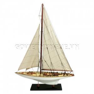 Mô Hình Du Thuyền Gỗ Endeavour 50cm Màu Trắng-SKU-DTEN5PT