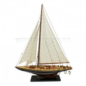 Mô Hình Du Thuyền Gỗ Endeavour 50cm Màu Đen/Đỏ (Loại 1)-SKU-DTE5DDD