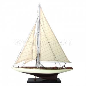 Mô Hình Du Thuyền Gỗ Rainbow 50cm Màu Trắng/Nâu (Loại 1)-SKU-DTRB5TN