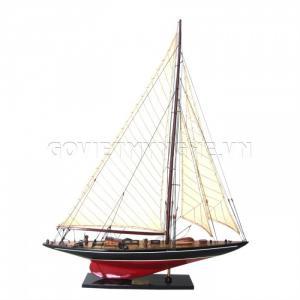 Mô Hình Du Thuyền Gỗ Shamrock 50cm Màu Đỏ/Đen C Class-SKU-DTSH5DDD