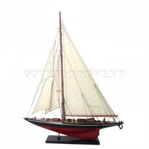 Mô Hình Du Thuyền Gỗ Shamrock 50cm Màu Đỏ/Đen (Loại 1)-SKU-DTSH5CDD