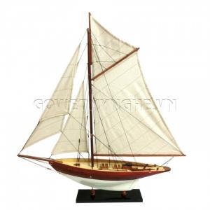 Mô Hình Du Thuyền Gỗ Penduick 70cm Màu Trắng/Cánh Gián-SKU-DTPD7DD