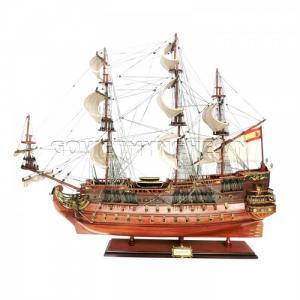 Mô Hình Thuyền Chiến Cổ San Felipe 80cm (Gỗ Tự Nhiên)